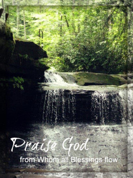 Praise God from Whom All Blessings Flow - 5 Blank Notecards