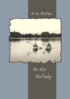 """To My Brother on His Birthday - 5"""" x 7"""" KJV Greeting Card"""