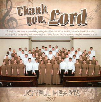 Thank You Lord - Acappella Christian Hymns CD by Joyful Hearts