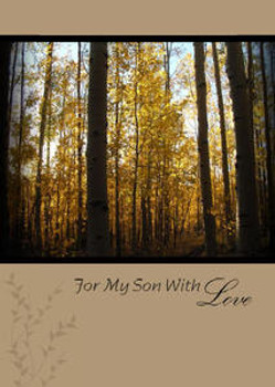 """For Our Son with Love - 5"""" x 7"""" KJV Greeting Card"""