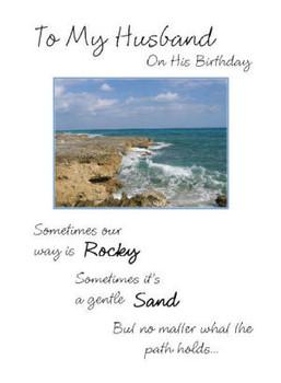 "To My Husband on His Birthday - 5"" x 7"" KJV Greeting Card 37"