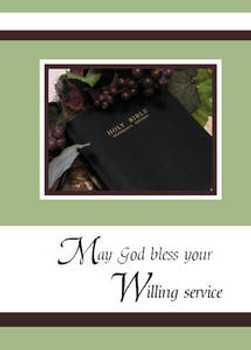 "Thank you for your Willing Service - 5"" x 7"" KJV Greeting Card"