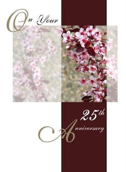 """God's Blessings as you celebrate 25 Years Together - 5"""" x 7"""" KJV Greeting Card"""