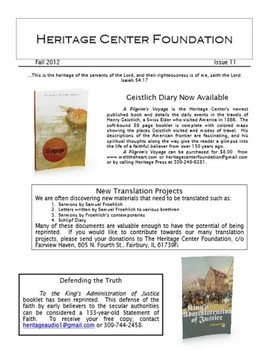 Heritage Center Foundation Newsletter