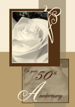 """God's Blessings as you celebrate 50 Years Together - 5"""" x 7"""" KJV Greeting Card"""