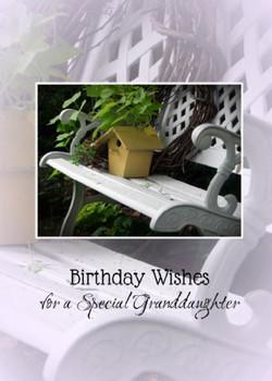 Granddaughter Birthday - KJV Scripture Greeting Card 5x7