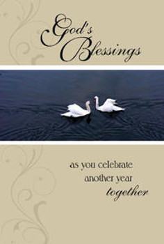 """God's Blessings as you celebrate another year together - 5"""" x 7"""" KJV Greeting Card"""