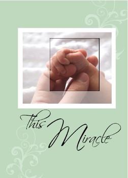 "This Miracle - 5"" x 7"" KJV Greeting Card"