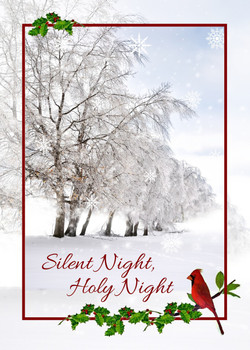 "Silent Night, Holy Night Christmas Card - 5"" x 7"" KJV Greeting Card"