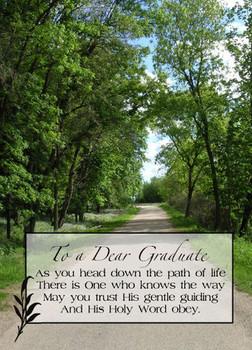 """To a Dear Graduate - 5"""" x 7"""" KJV Greeting Card"""
