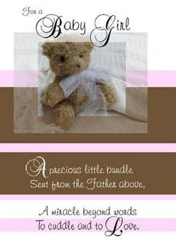 "A Baby Girl - 5"" x 7"" KJV Greeting Card"