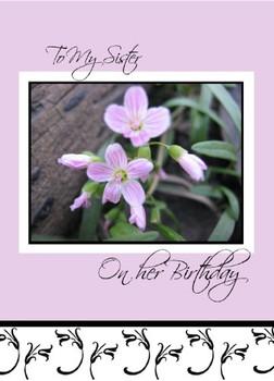 "To My Sister on her Birthday - 5"" x 7"" KJV Greeting Card"