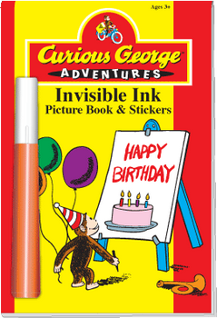 "Invisible Ink with Stickers: Curious George™ ""Happy Birthday"""