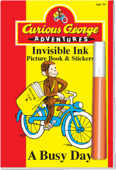"Invisible Ink with Stickers: Curious George™ ""A Busy Day"""