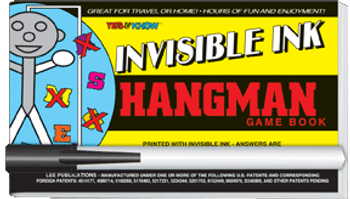 "Invisible Ink: Yes & Know® Game Book ""Hang Man"""