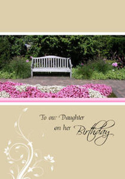 """To Our Daughter on her Birthday - 5"""" x 7"""" KJV Greeting Card"""
