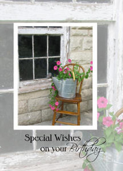 """Special Wishes on your Birthday - 5"""" x 7"""" KJV Greeting Card"""