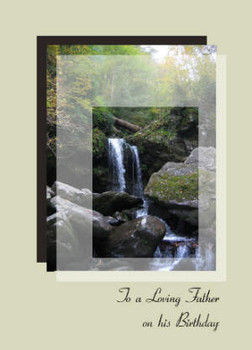 """To a Loving Father on his Birthday - 5"""" x 7"""" KJV Greeting Card"""
