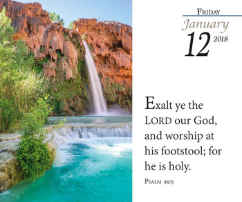 Verse for the Day - 2018 Daily Desk Calendar - 365 Page a Day KJV Scriptures on Inspirational Calendar - Page 1