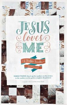 Jesus Love Me (Girl) - Sticker Puzzles - Set of 6 Puzzles, 104 Pcs Each