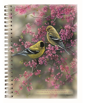Goldfinches & Redbud - Journal, Stationery & Magnetic List - by Heartwarming Thoughts