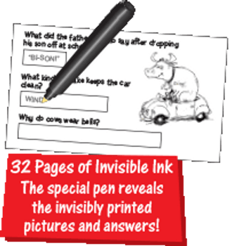 Invisible Ink: Highlights™ - Game Book On-the-Go Jokes & Riddles