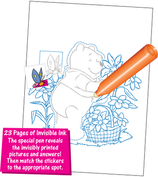 Invisible Ink with Stickers: Winnie the Pooh Book 2