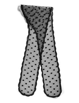 "Prayer Veil - Black Lace - Dancing Droplets - 3 1/2"" - Chapel"