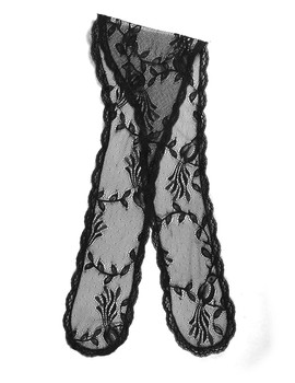 "Prayer Veil - Black Lace - Songbirds - 3 1/2"" - Chapel"