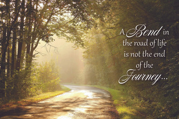 A Bend in the Road - Wall Plaque by Heartwood Hollow