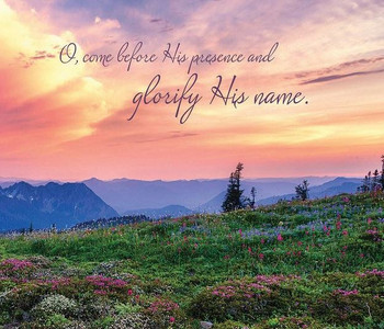 Glorify His Name - Wall Plaque by Heartwood Hollow