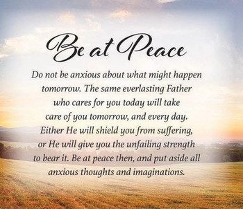 Be at Peace I - Wall Plaque by Heartwood Hollow