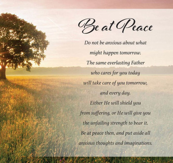 Be at Peace II - Wall Plaque by Heartwood Hollow
