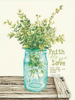 Faith, Hope, Love & Eucalyptus - Wall Plaque by Heartwood Hollow