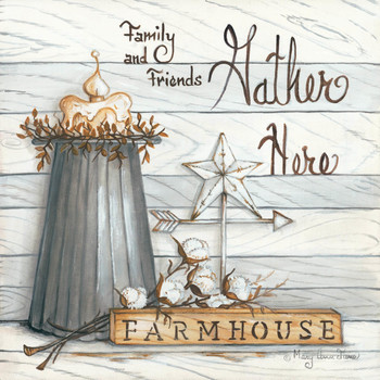 Farm House - Gather Here - Wall Plaque by Heartwood Hollow