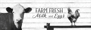 Farm Fresh Milk & Eggs - Wall Plaque by Heartwood Hollow