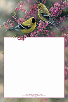 Goldfinches & Redbud - Dry Erase Board by Heartwood Hollow