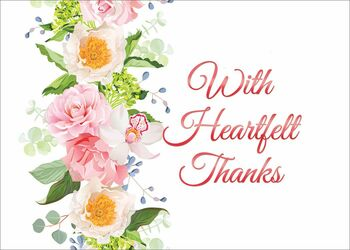KJV Boxed Cards - Thank You, Heartfelt Thanks by Christian Art Greetings