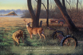 For the Lord Is Good - Wall Plaque by Heartwood Hollow