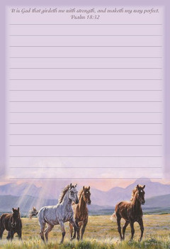 Mountain Dusk - Stationery Pad - by Heartwarming Thoughts