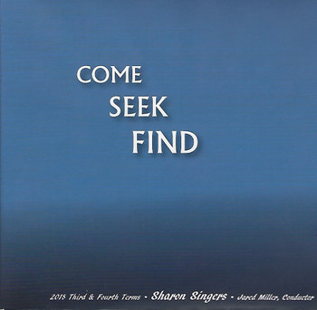Come Seek Find CD by Sharon Singers