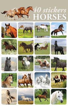 Horses Stickers - 2 sheets