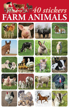 Farm Animals Stickers - 2 sheets