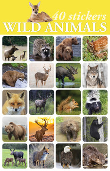 Wild Animals Stickers - 2 sheets