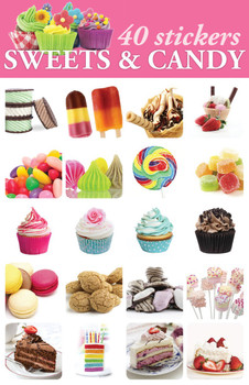 Sweets & Candy Stickers - 2 sheets