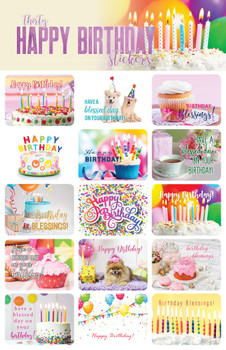 Happy Birthday Stickers - 2 sheets
