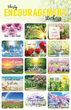 Bible Verse Encouragement Stickers - 2 sheets
