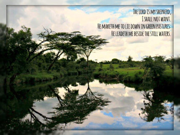 Psalm 23 - 5 Blank Notecards