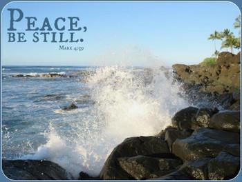 Peace Be Still - 5 Blank Notecards