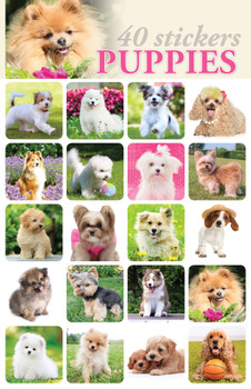 Puppies Stickers - 2 sheets